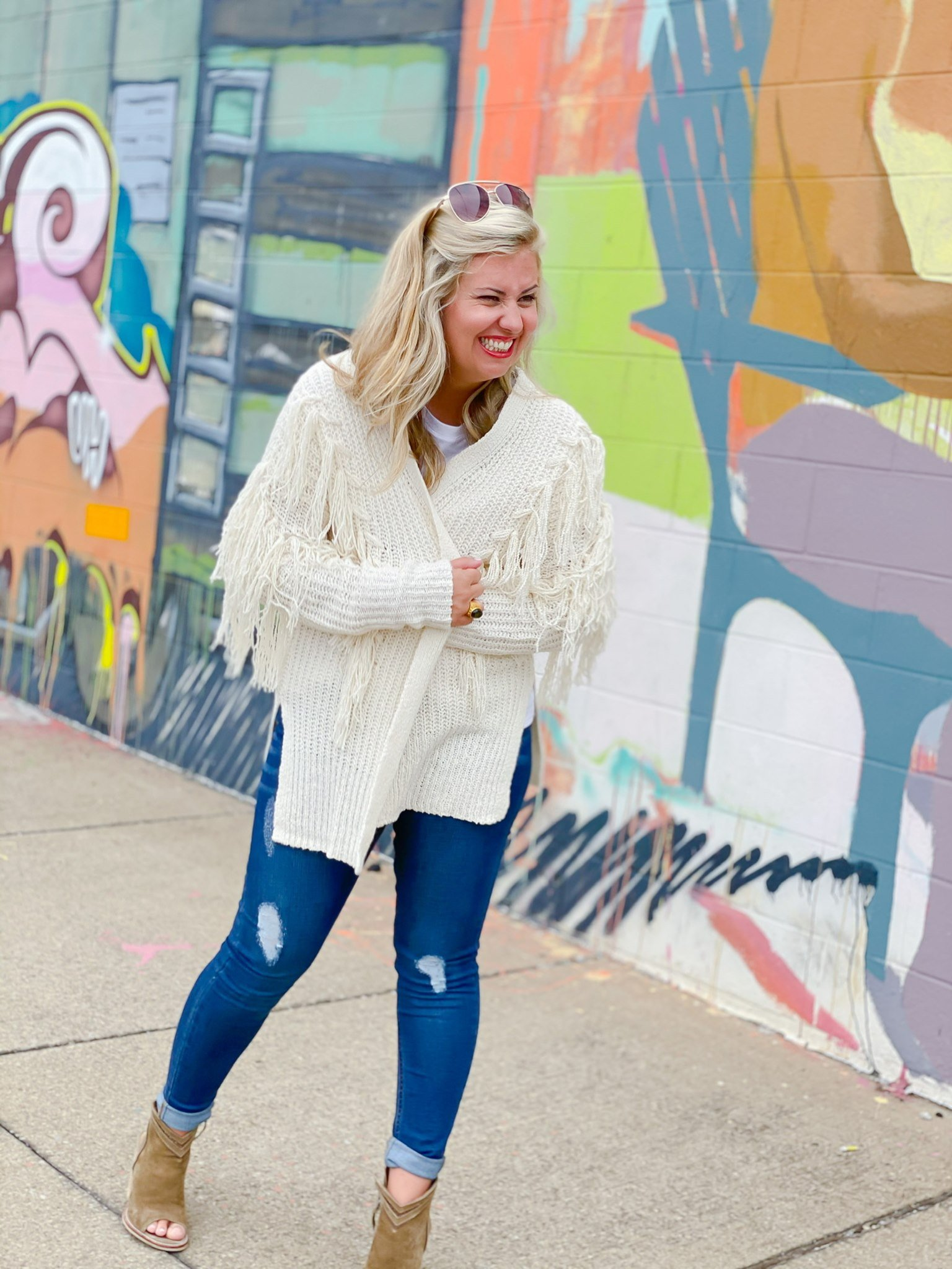 Southern Charm Fringe Cardigan by Good Hart, a clothing line inspired by Nashville