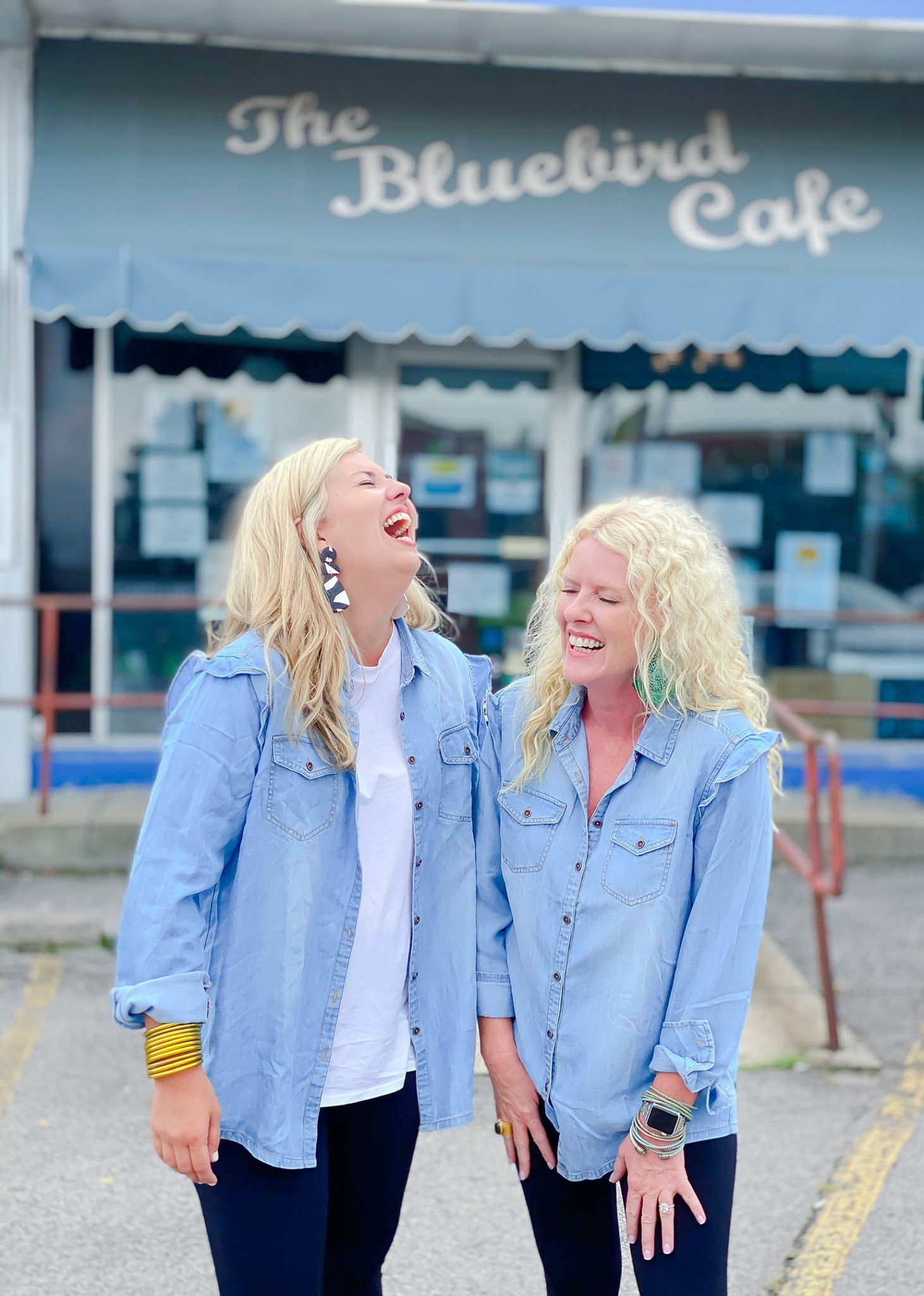 Bluebird Chambray Button Blouse by Good Hart Style Option 2