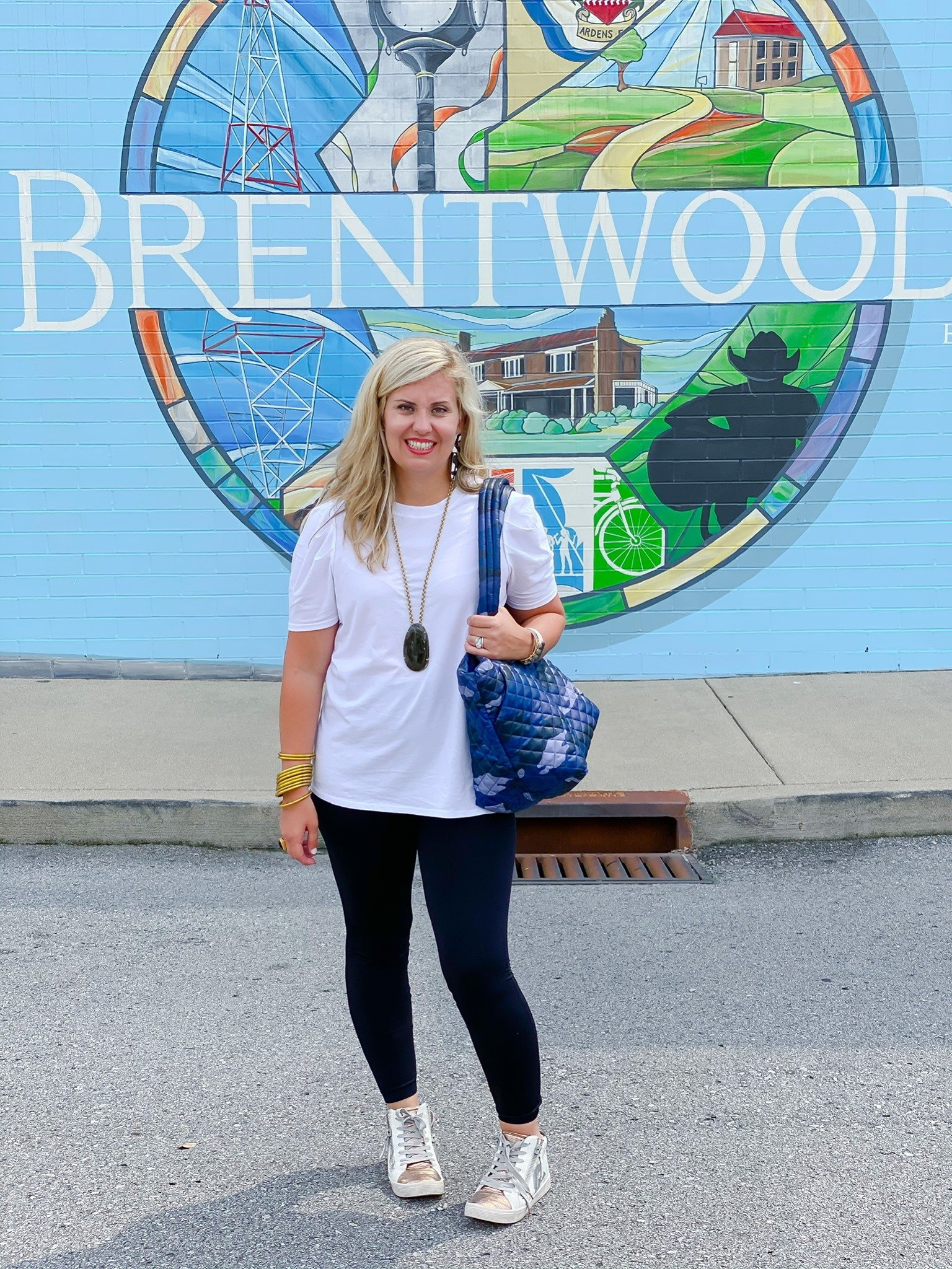 Brentwood Legging paired with Briley White Tee Good Hart