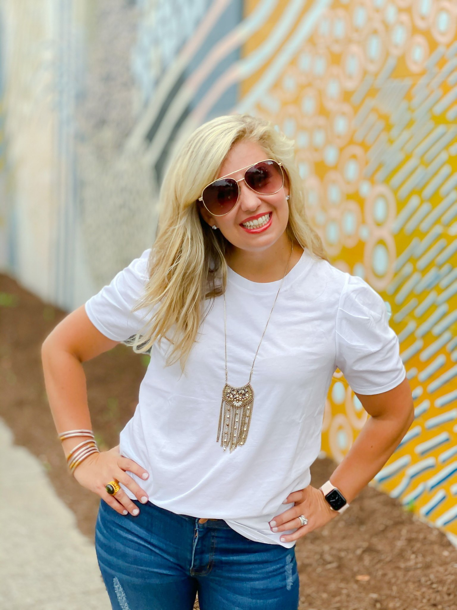 Briley White Tee by Good Hart, a clothing line for women by Matilda Jane