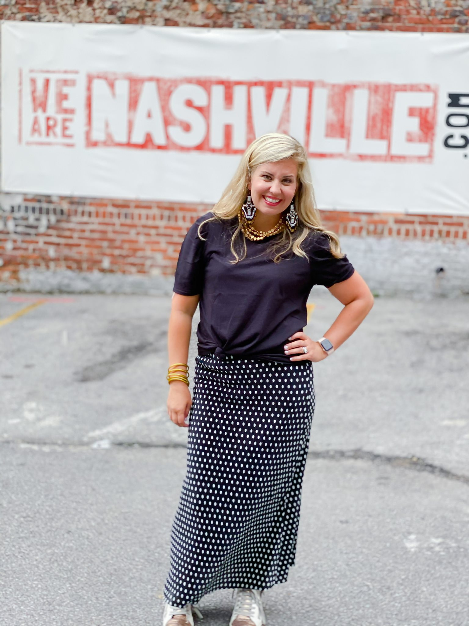 Bells Bend Skirt by Good Hart Paired with Briley Black Tee