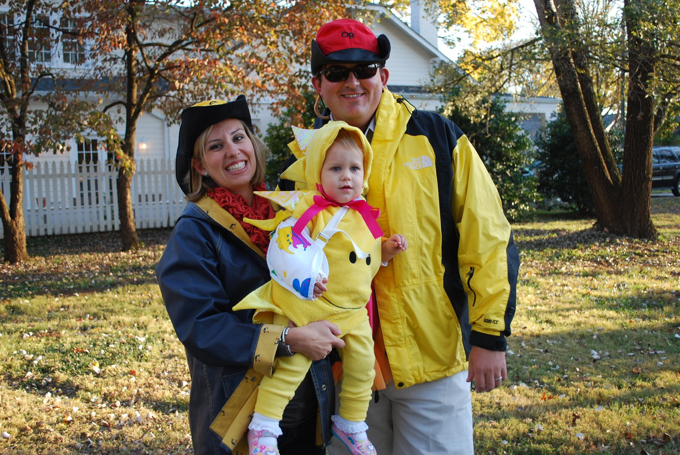 Sunshine on a cloudy day family halloween costume
