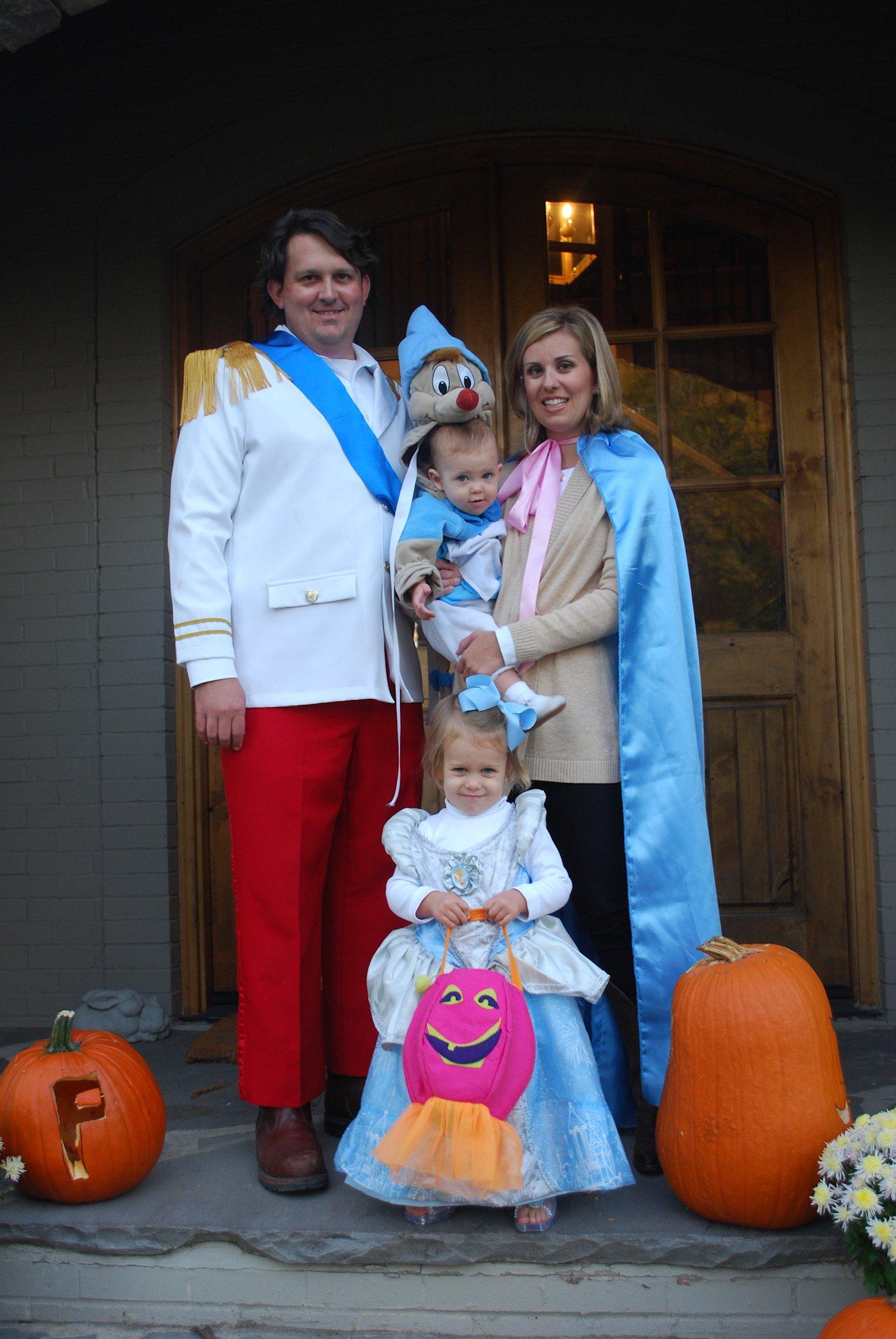 Cinderella and Prince Charming family Halloween costume
