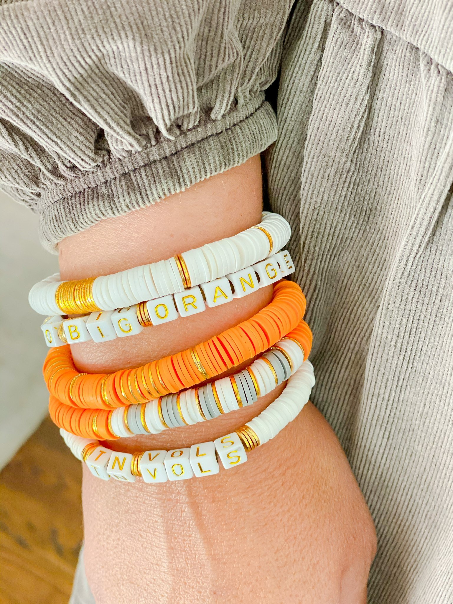 Go Vols Tennessee Bracelets by Accessory Scout