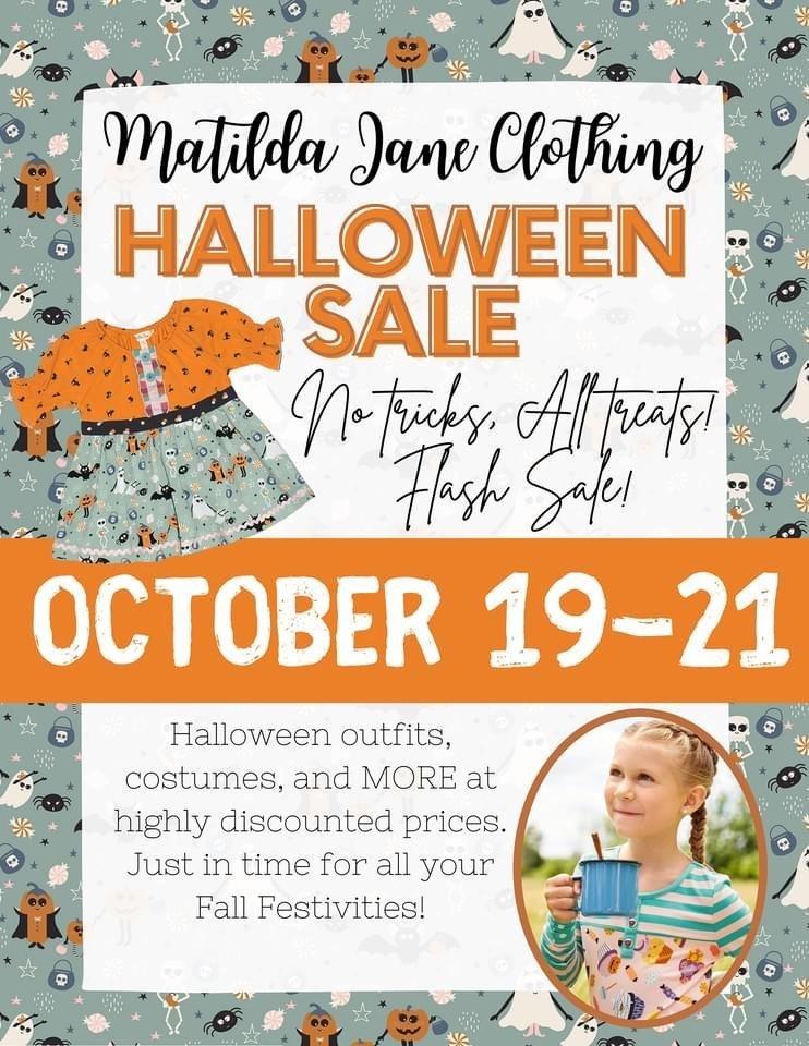 Matilda Jane Clothing Flash Halloween Sale, 2020