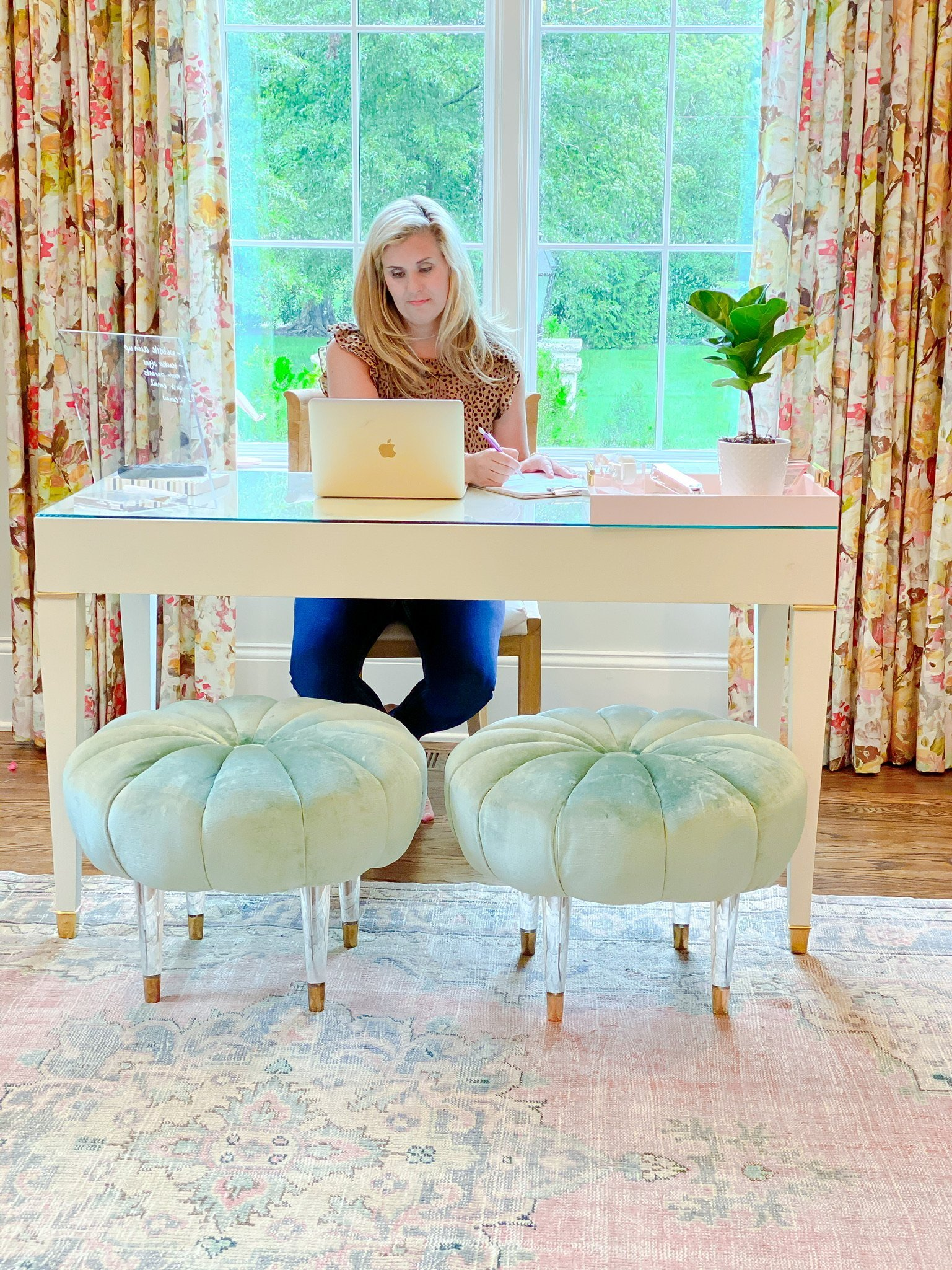 Catherine Martin at Office Desk