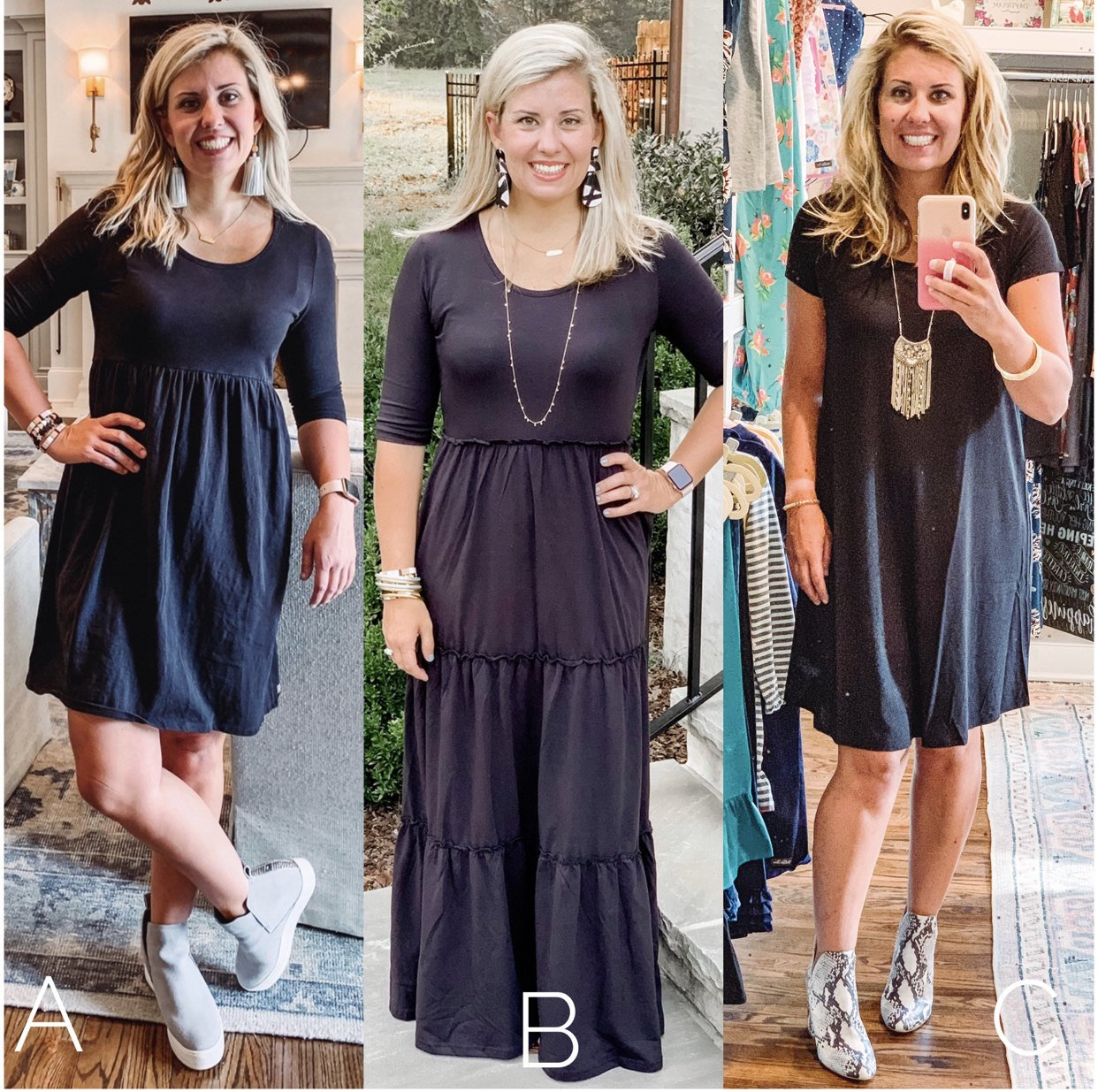 Black dress style options