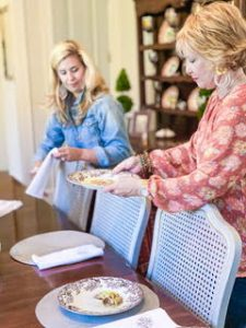 The Martin Family sets the table for Thanksgiving