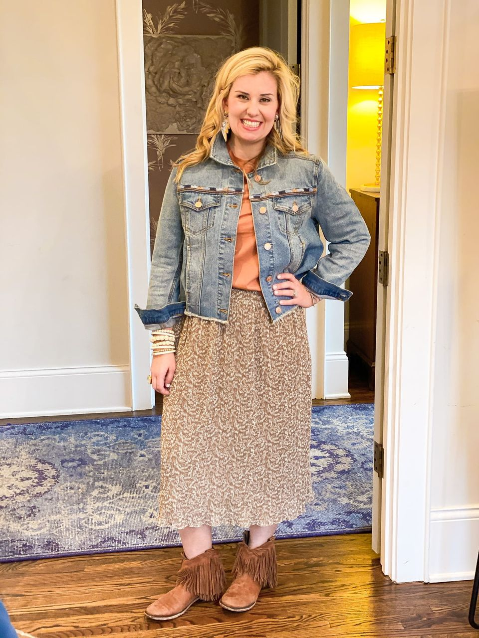 Catherine Martine wearing the Adina Skirt from the Good Hart Spring 2021 Collection