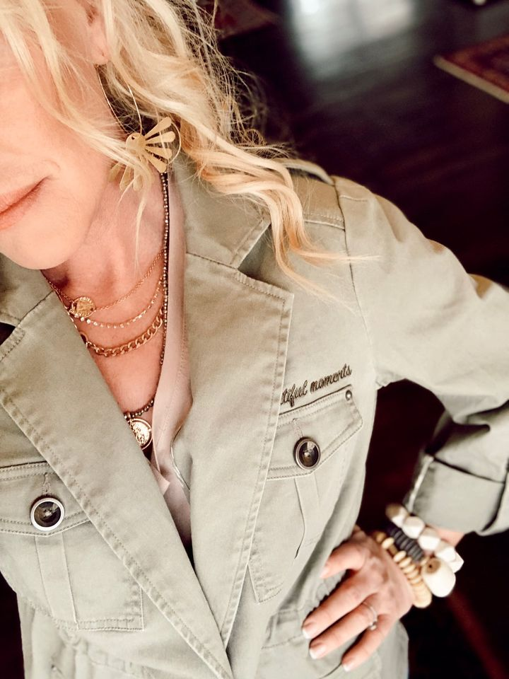 Close Up of Austin Cargo Jacket by Good Hart