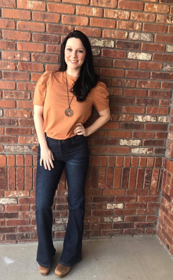 Rainey Tee with Flare Jeans