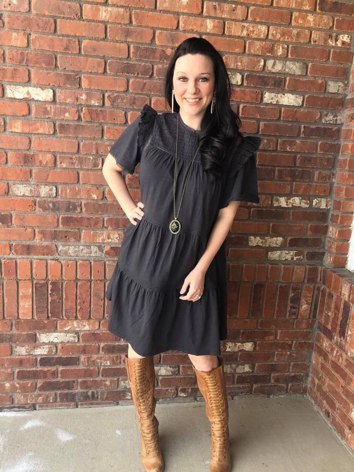 Model Wearing The McKinney Dress by Good Hart