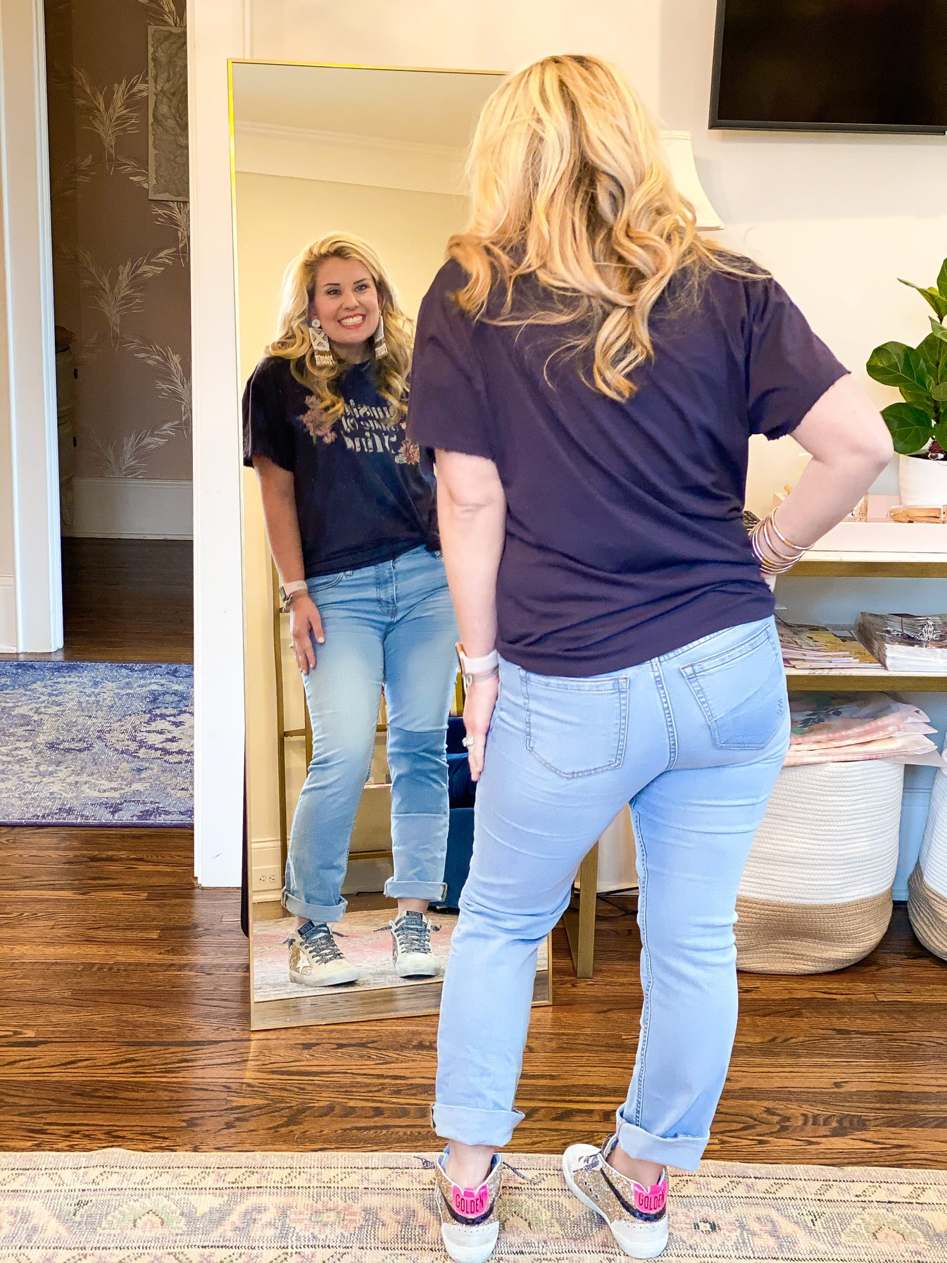 Catherine Martin in the WIndsor Straight Crop Jean