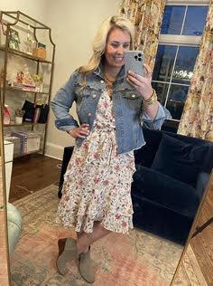 Good Hart Jean Jacket worn with Dress