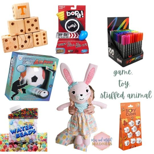 Easter Basket Gift Ideas toys, games, and stuffed animals